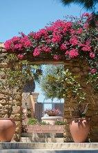 Blumen Torre Baglio Tempel auf Sizilien