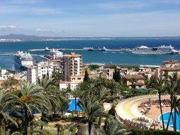 Aussicht Hafen Valparaiso Mallorca Urlaub