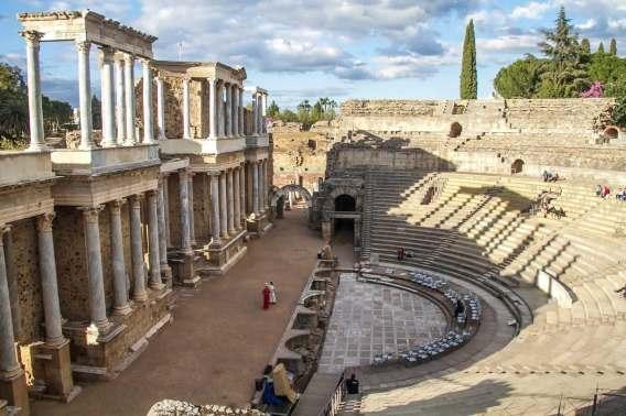 Amphitheater Merida in Extremadura