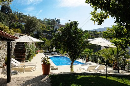 Garten und Pool der Quinta da Palmeira