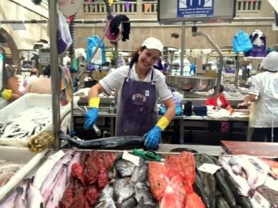 Fischmarkt Verkäuferin Galicien