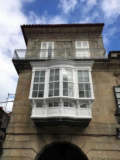 Galicien Baiona Balkone
