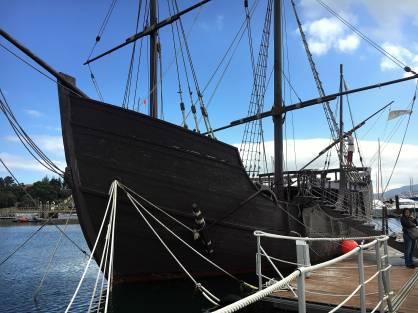 Galician Baiona Hafen Pinta Boot
