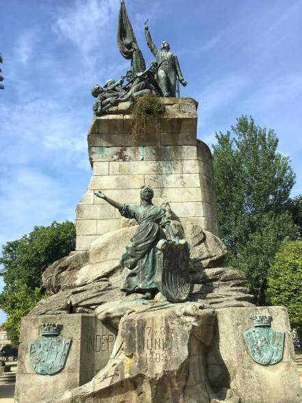 Galicien Pontevedra Denkmal