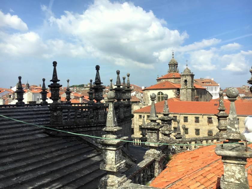 Dächer Kathedrale Santiago de Compostela