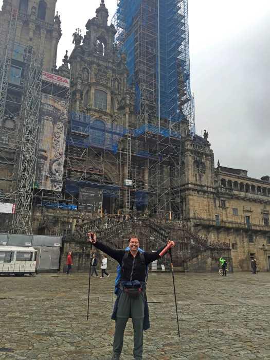 Ankunft Santiago de Compostela Portugiesischer Jakobsweg