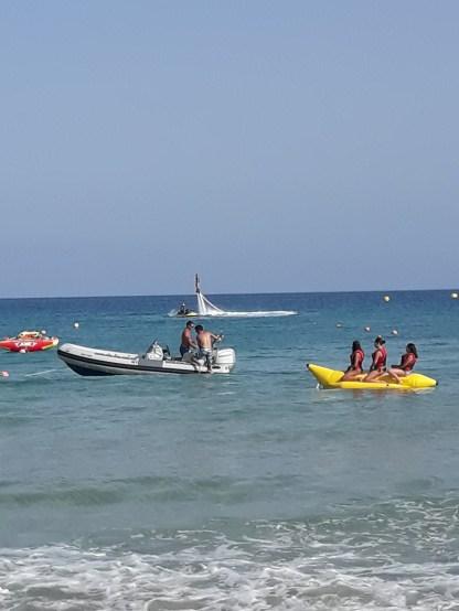 Banana Boot fahren auf Porto Santo