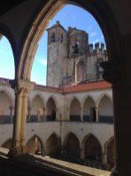 Tomar Fensterbogen Burg Ritterorden Centro Portugal