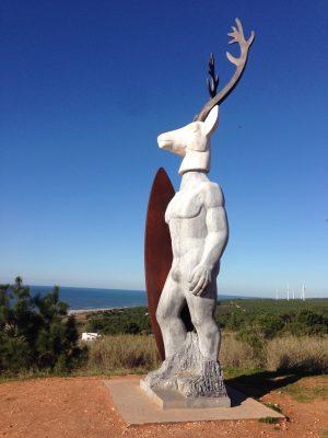 Surfer Skulptur Nazaré