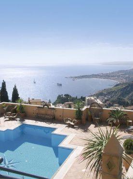Blick vom Hotel Villa Diodoro auf Ätna