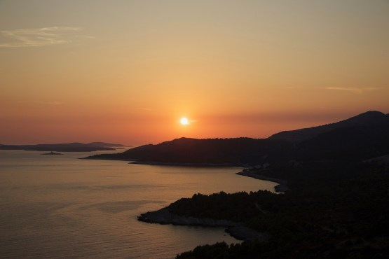 Sonnenuntergang bei Hvar