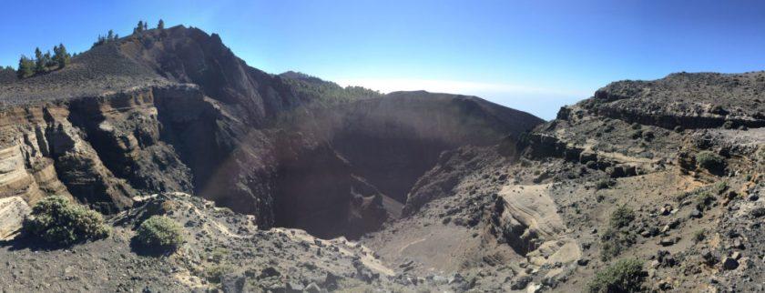 Einblick in Krater La Palma