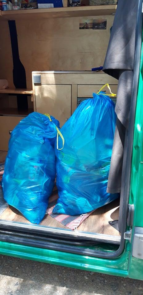 Aufgesammelter Müll Baskenland
