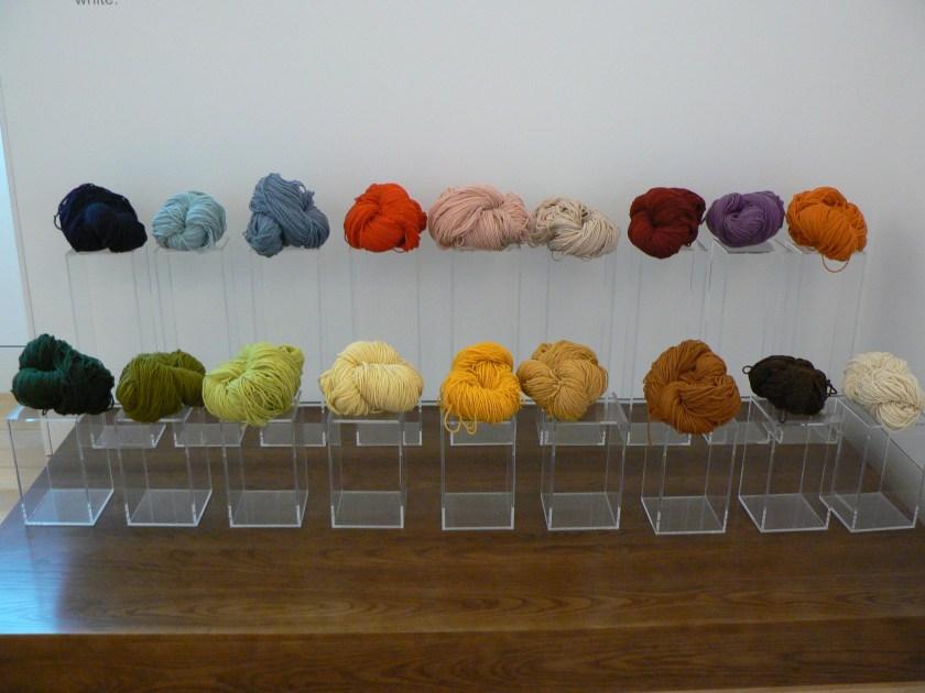 Gefärbte Schurwolle