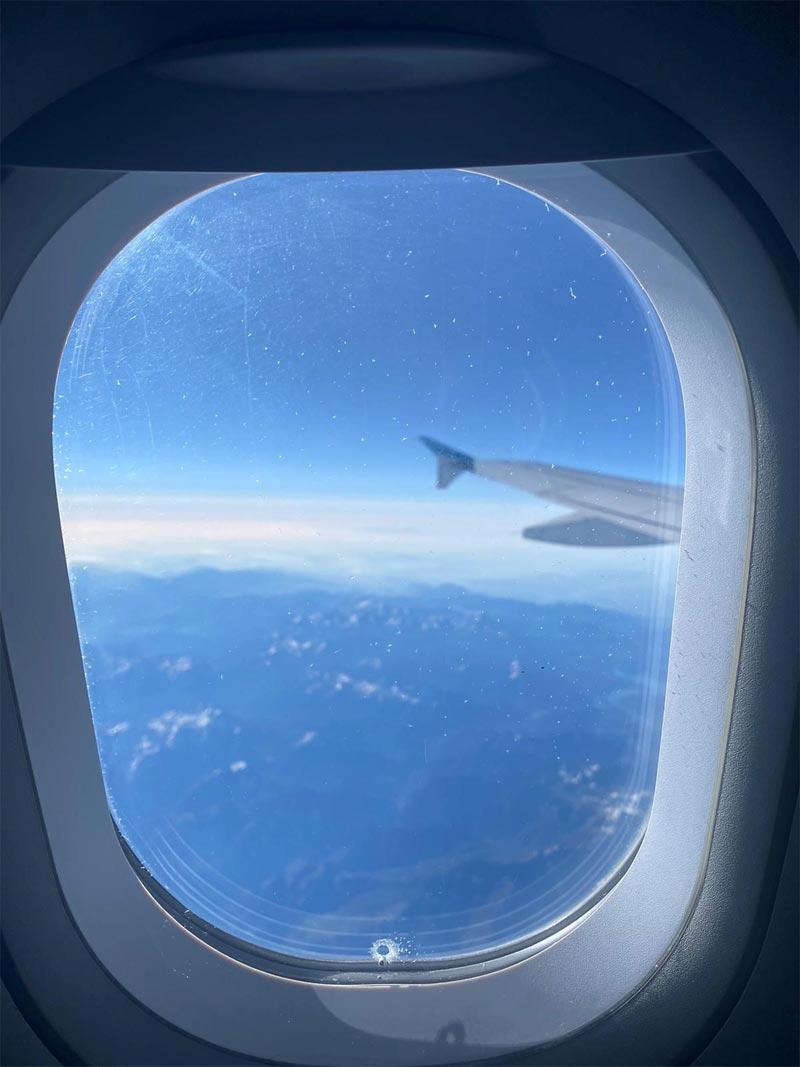 Flug Blick aus Fenster