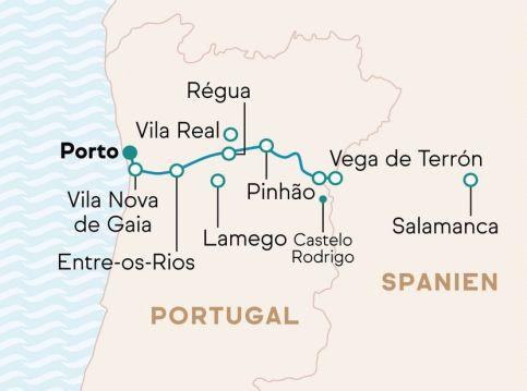 Flusskreuzfahrt Douro MS Andorinha Route
