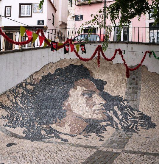 Vhils-Amália Alfama Lissabon