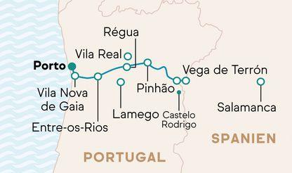 Route Kreuzfahrt MS Andorinha Douro