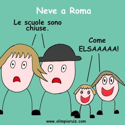Neve a Roma - Vignette Olimpia Ruiz