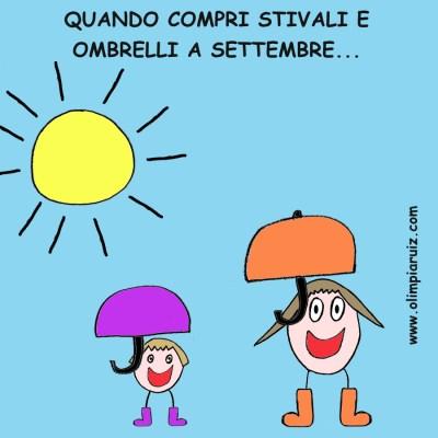 Vignette sulla vita in famiglia - Ombrelli a settembre