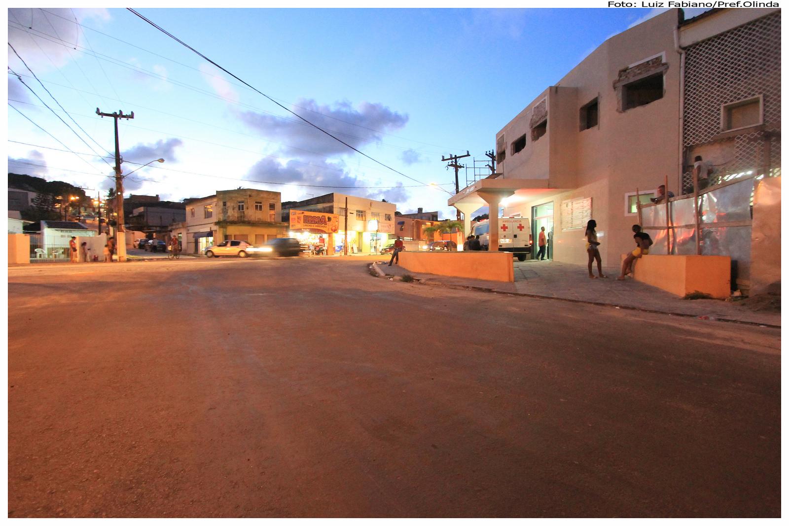 A Rua Dr farias Neves Sobrinho, em Bairro Novo, já foi recapeada. Foto: Luiz Fabiano/Pref.Olinda