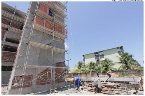Obra no estádio de Rio Doce. Foto: Luiz Fabiano/Pref.Olinda