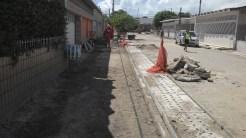 Drenagem em andamento. Foto: Secretaria de Obras de Olinda