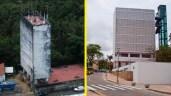 Caixa Dágua do Alto da Sé, antes e depois da reforma. Fotos: Passarinho e Laila Santana/Pref.Olinda
