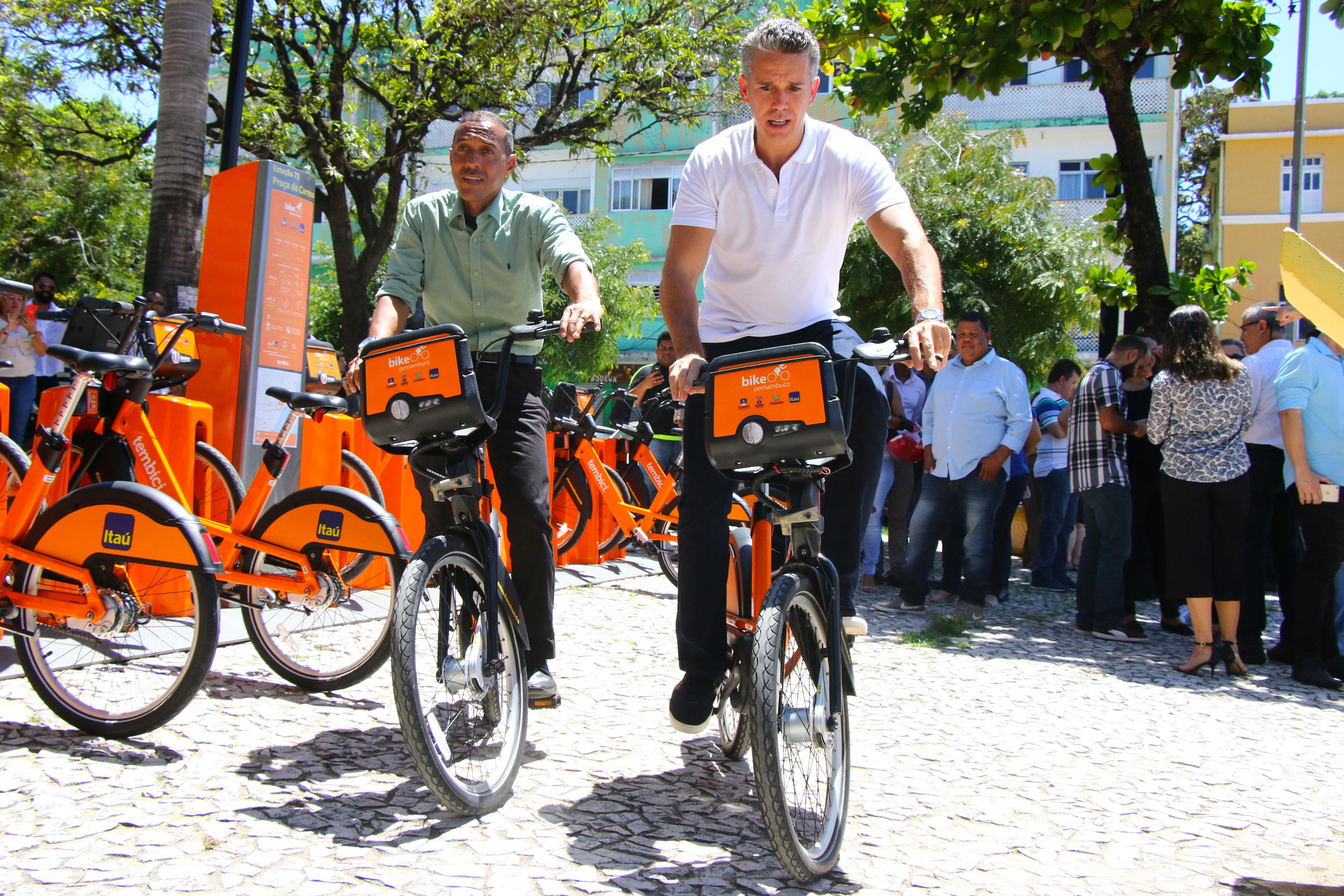 Olinda ganha ciclovia e novas estações do Bike PE. Fotos: Alice Mafra/divulgação PMO