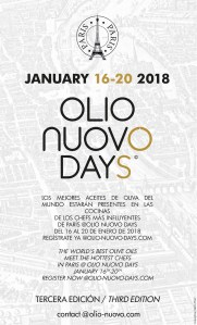 OLIO NUOVO DAYS Agenda 2018 - Français - English - Español - italiano.