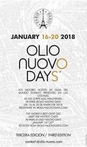 AGENDA 2018 OLIO NUOVO DAYS PARIS