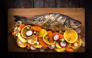 olio di oliva groma-pesce alla griglia