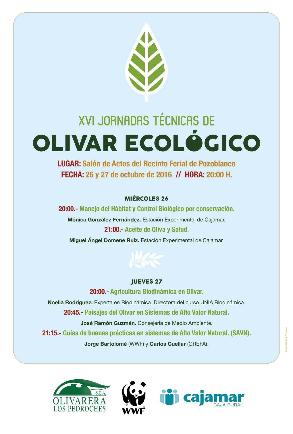 cartel-xvi-jornadas-tecnicas-olivar-de-sierra-los-pedroches-aceite-ecologico-olivarera-olipe-olivalle