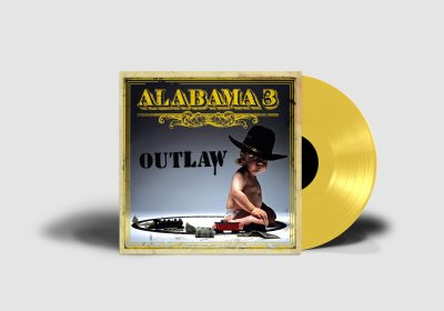Alabama 3 - Outlaw - Yellow Vinyl - Mockup