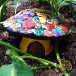 Rainbow Swirl Mushroom Faerie House