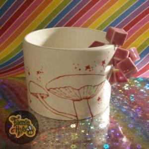 Rose Cube Mushroom Cup