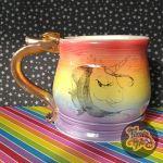 Rainbow Unicorn Stein - Double Thumb Rest