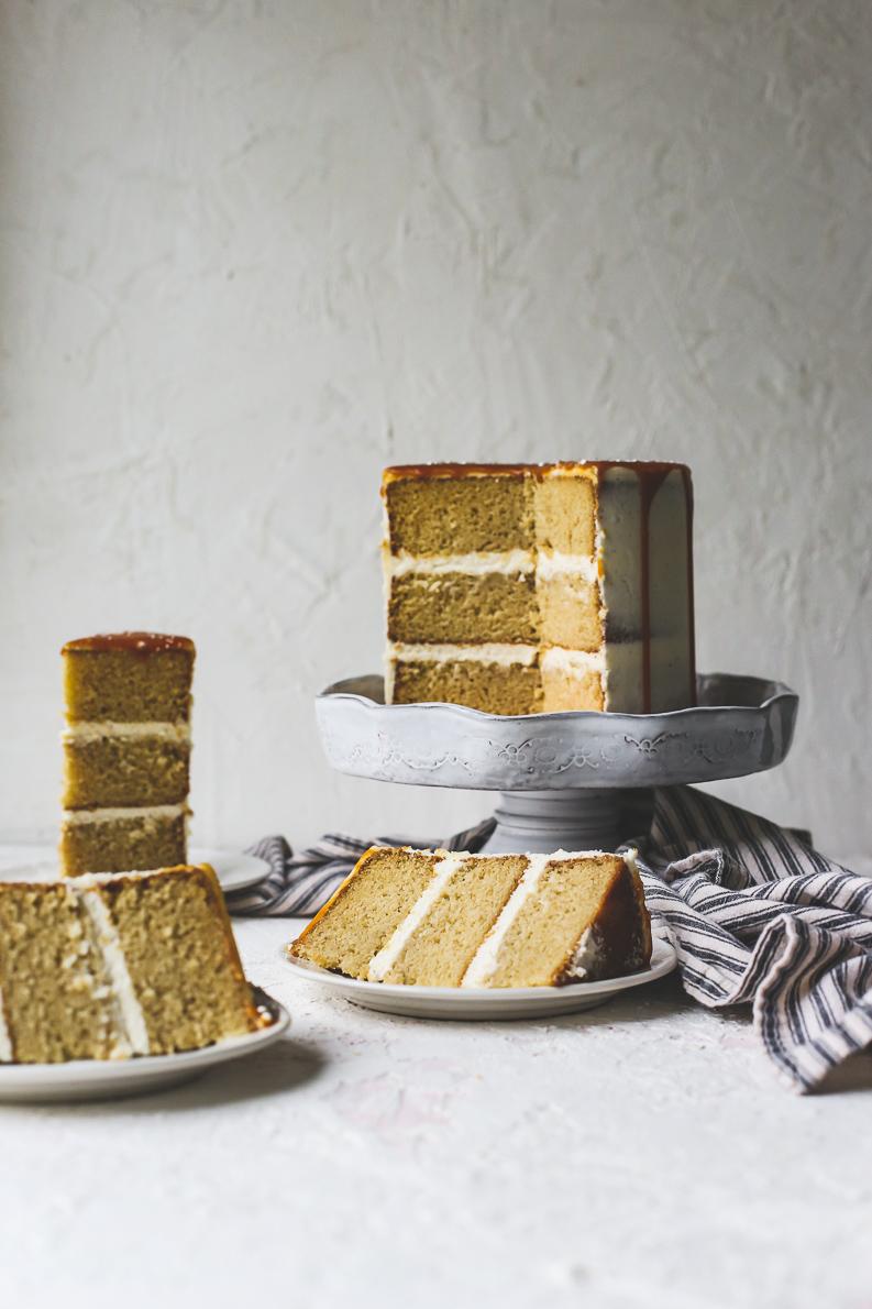 Browned Butter Salted Caramel Cake