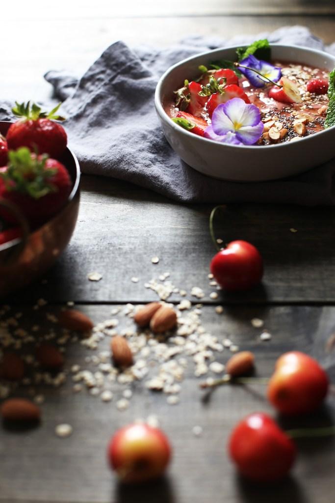 Strawberry Mint Acai Bowls