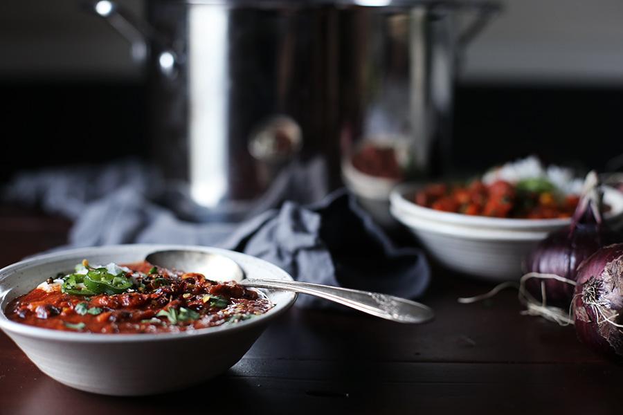 Sweet Potato Chorizo Chili