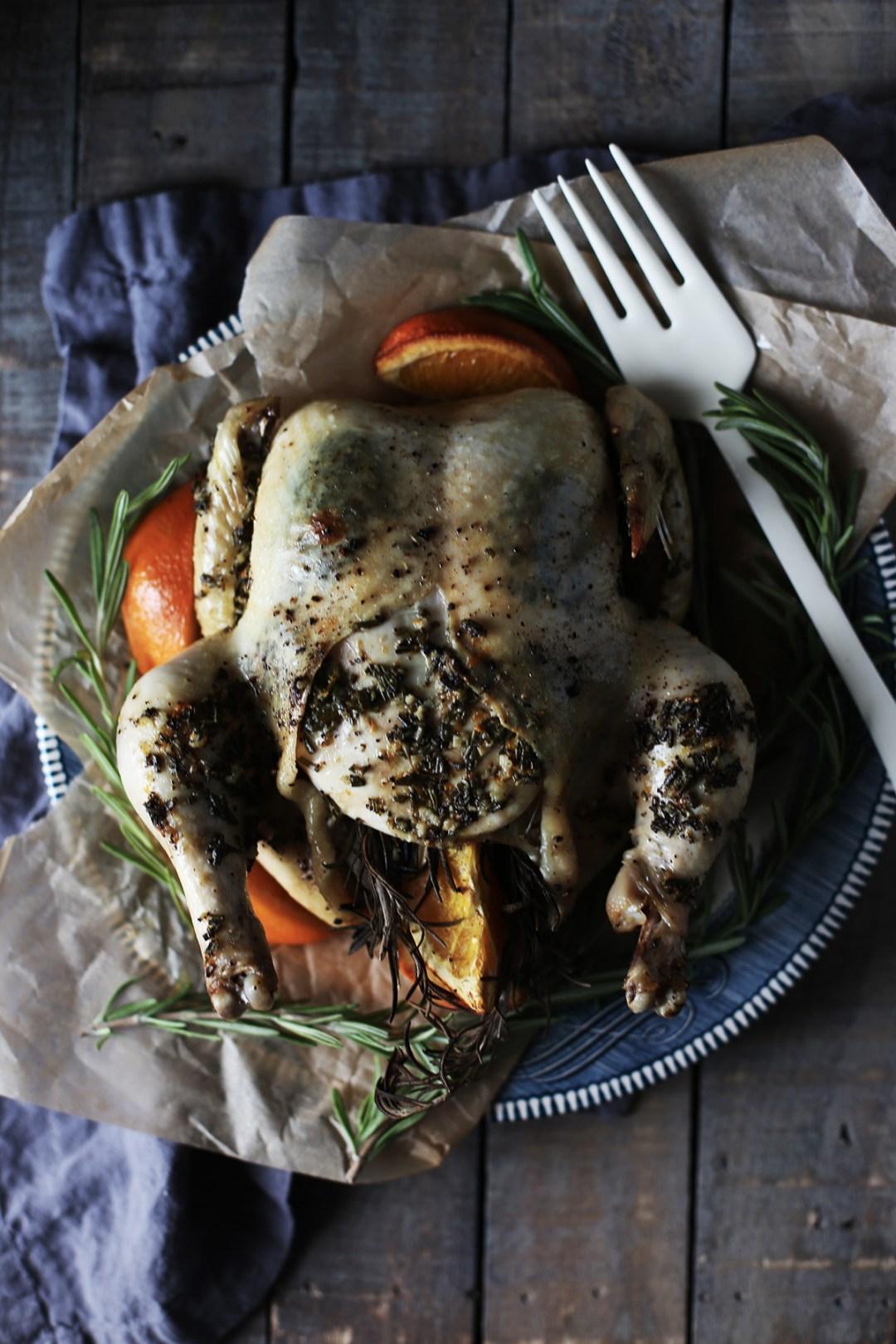 Orange Rosemary Roasted Chicken