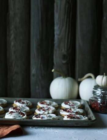 Soft Pumpkin Cookies with Cream Cheese Frosting