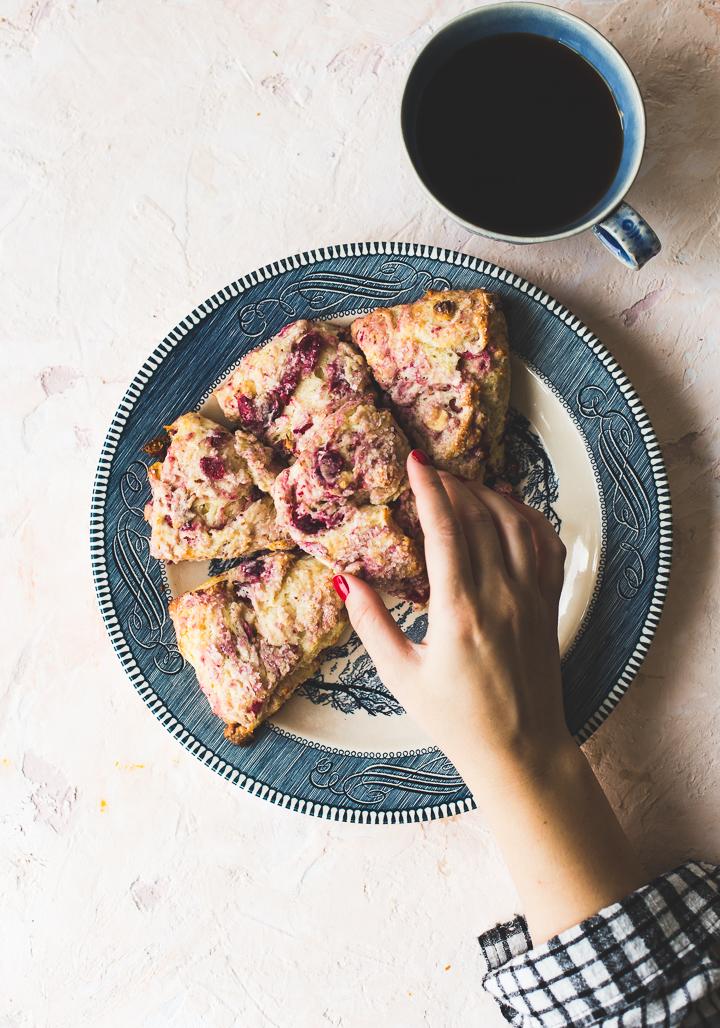 Cranberry White Chocolate Scones