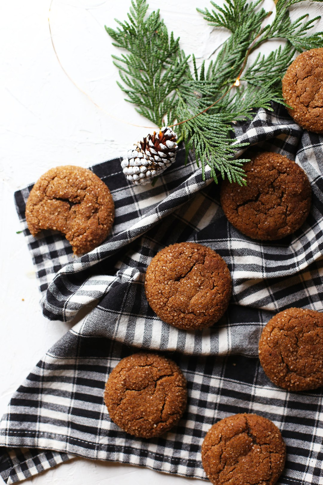Chai-Sugared Molasses Cookies