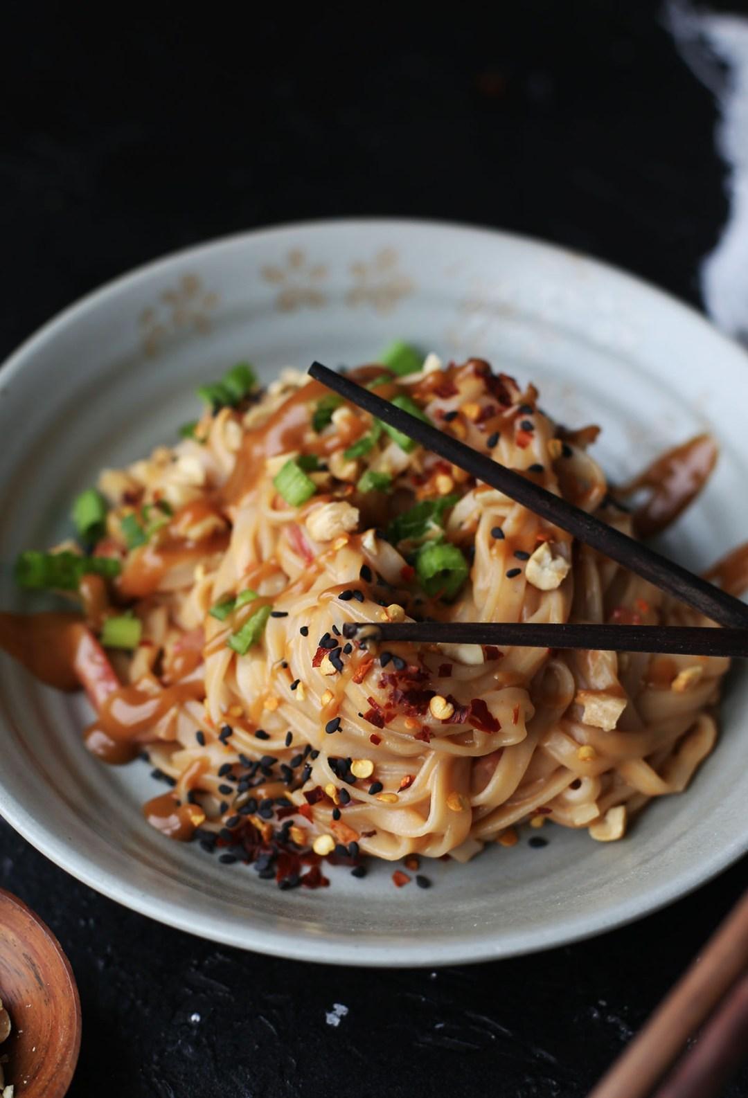 Quick Pad Thai Peanut Noodles