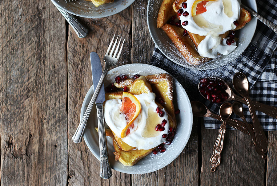 Blood Orange and Vanilla Bean French Toast