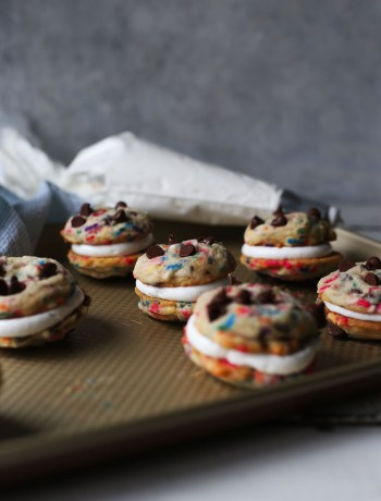 Funfetti Chocolate Chip Cookie Sandwich