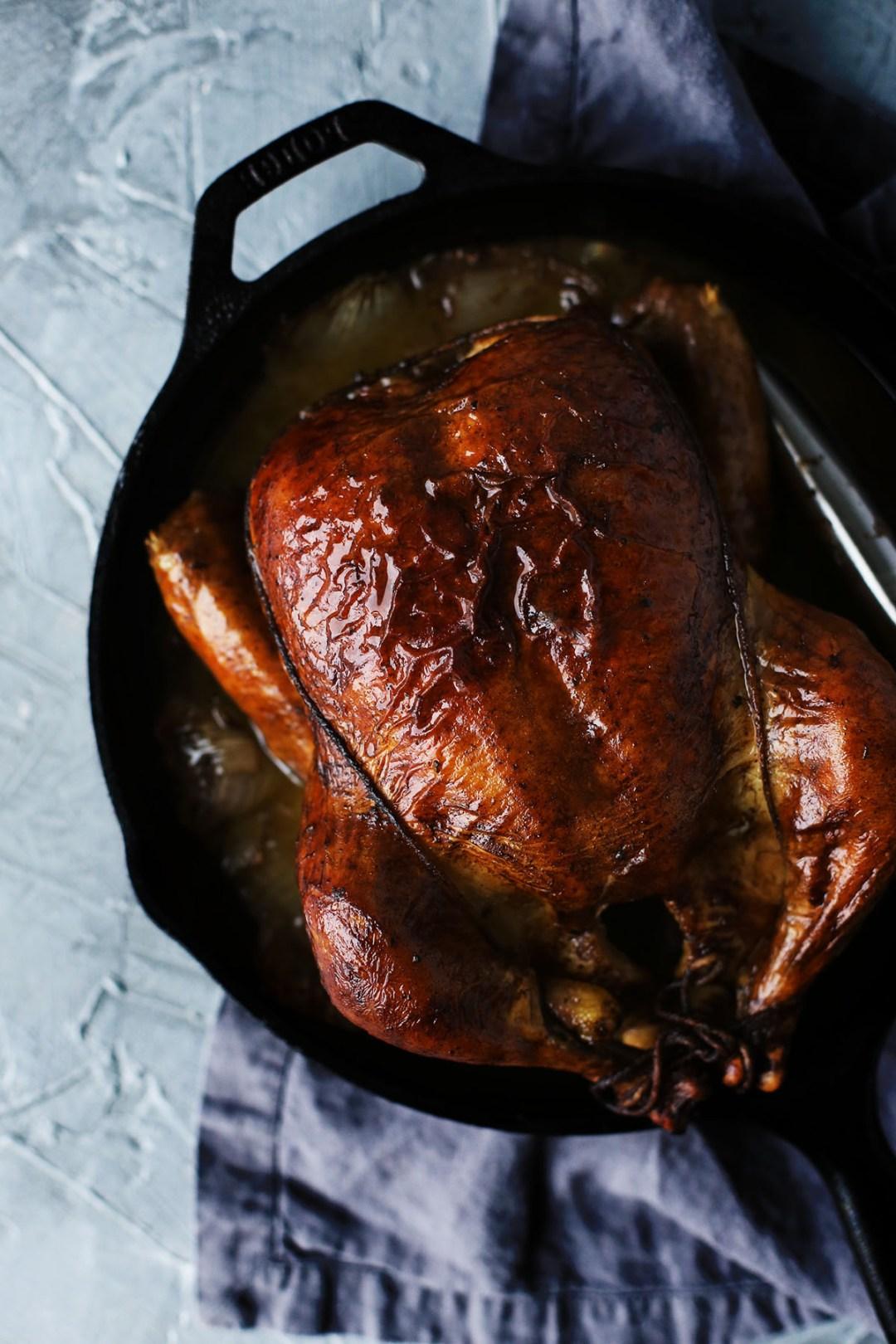 Maple Butter Roast Whole Chicken