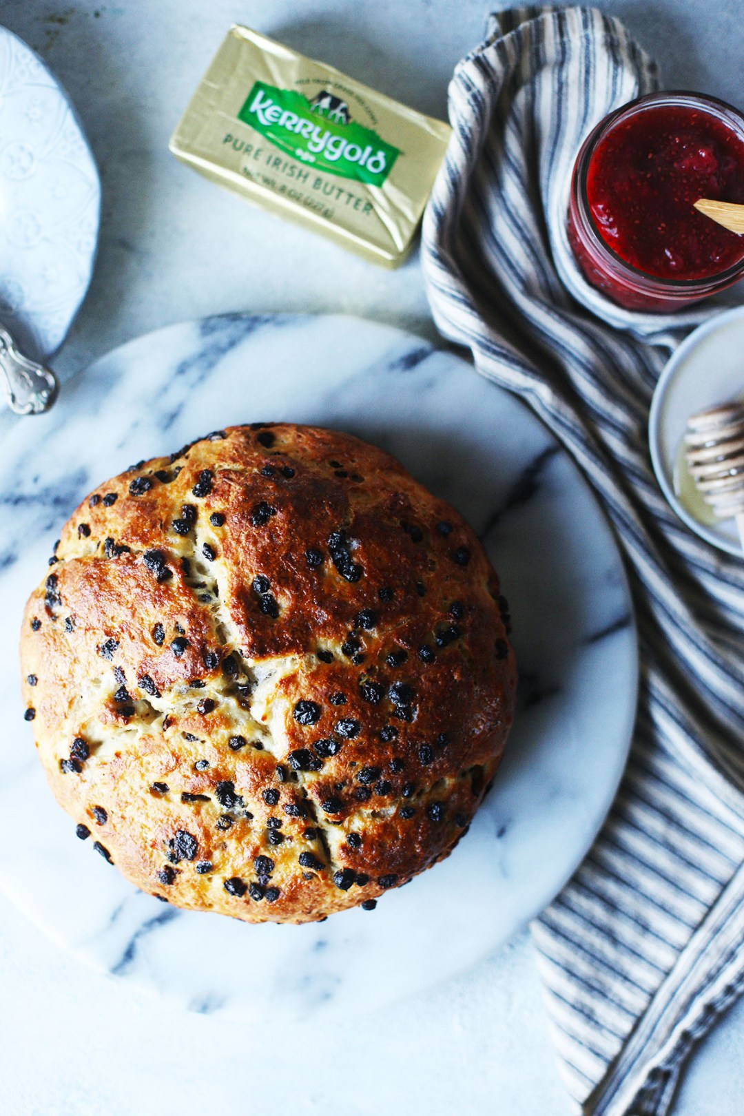 Irish Soda Bread with Currants and Chia Strawberry Jam