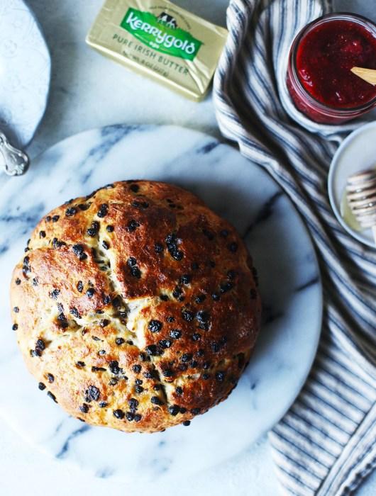 Irish Soda Bread with Currants and Chia Strawberry Jam